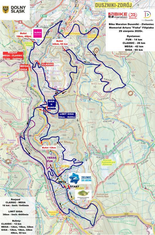 Bike Maraton Zieleniec czyli jeszcze więcej gór - trasa iprofile